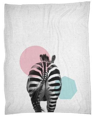 Zebra -Fleecedecke