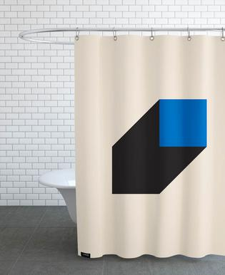 Geometric Projection Shower Curtain