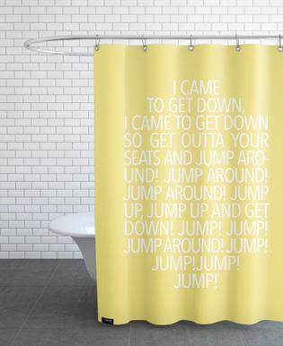 Jump Yellow -Duschvorhang