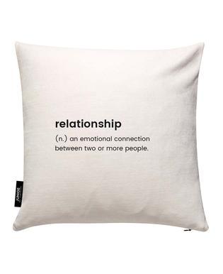 Relationship 2 Housse de coussin