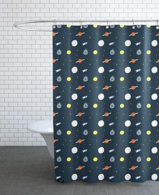 Planets Pattern Shower Curtain