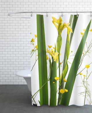 Flora - Gelbe Iris douchegordijn