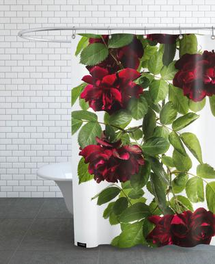 Flora - Rose -Duschvorhang