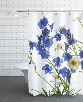Flora - Rittersporn -Duschvorhang