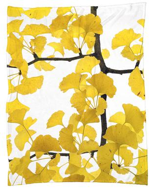 Flora - Ginko Fleece Blanket