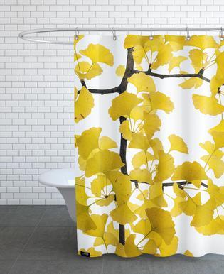 Flora - Ginko -Duschvorhang