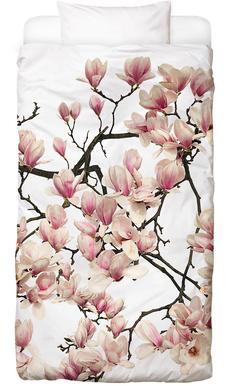 Flora - Magnolie Dekbedovertrekset