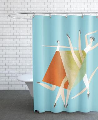 Dancing Blue Shower Curtain