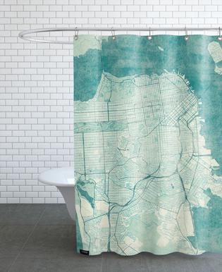 San Fransico Vintage -Duschvorhang