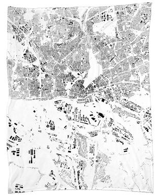 Hamburg Map Schwarzplan