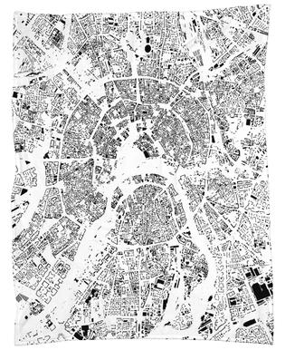 Moscow Map Schwarzplan