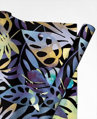 Jungle Leaves Dark Gift Wrap