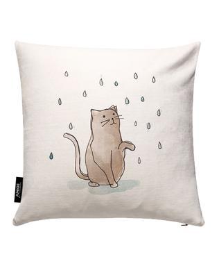 Cat in the Rain Cushion Cover