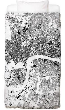 London Map Schwarzplan Bed Linen