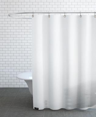 Reykjavík in the mist 2 Shower Curtain