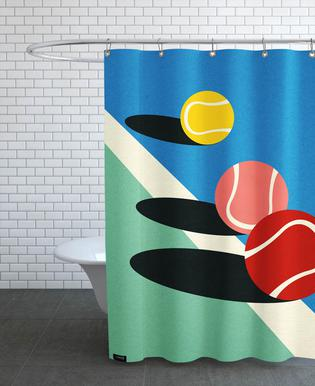 3 Tennis Balls Shower Curtain
