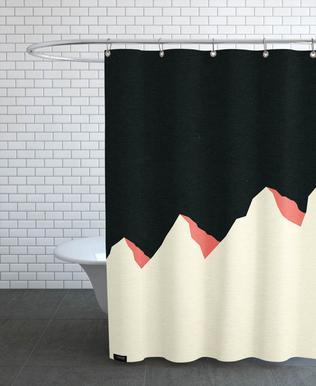 Dark Night White Mountains -Duschvorhang