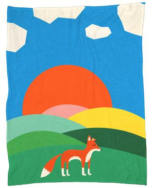 Fox and Field Fleece Blanket