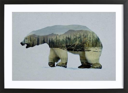 The Arctic Polar Bear -Bild mit Holzrahmen