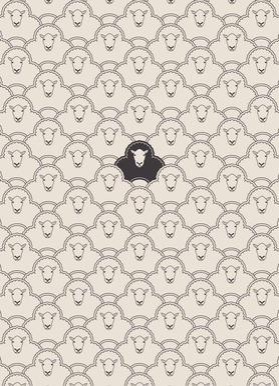 Black sheep -Leinwandbild