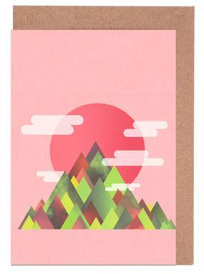 Pink Peaks -Grußkarten-Set
