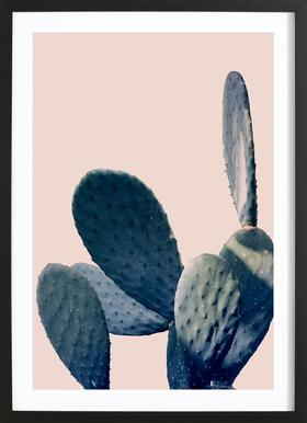 Cactus I - Poster in Wooden Frame