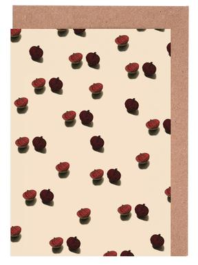 Red Beetroots Greeting Card Set