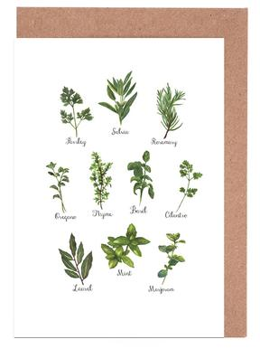 Herbs Collection Greeting Card Set