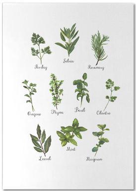 Herbs Collection -Notizblock