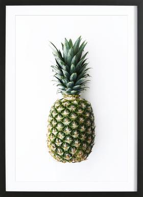 Pineapple - Poster in Wooden Frame