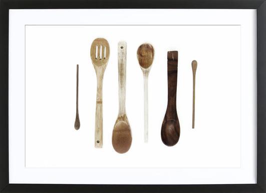 Spoon Collection N1 -Bild mit Holzrahmen