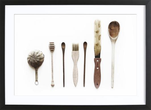Spoon Collection N2 - Poster in Wooden Frame