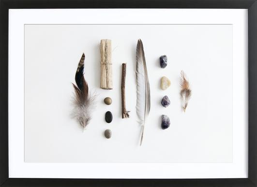 Tribe -Bild mit Holzrahmen