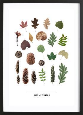 Bits of Winter Poster i träram