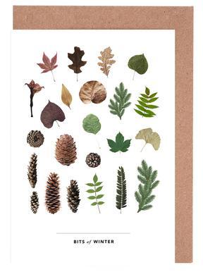 Bits of Winter Gratulationskort i satt