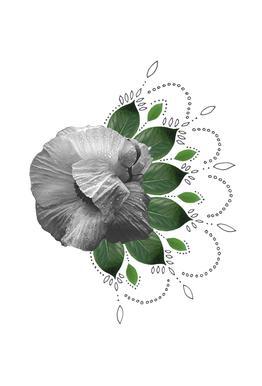 Flower Collage -Alubild