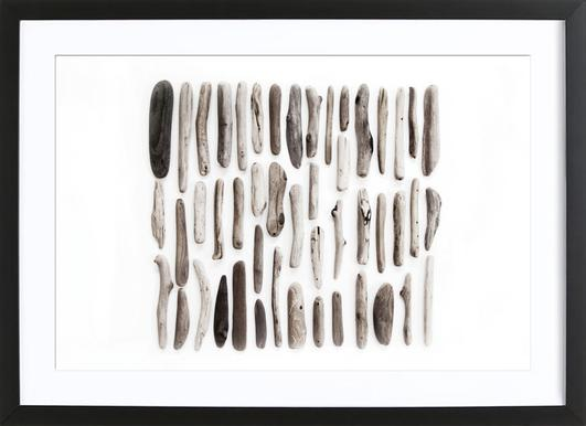 Driftwood - Poster in Wooden Frame