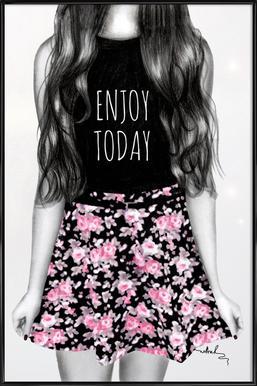 Enjoy Today -Bild mit Kunststoffrahmen