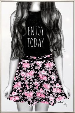 Enjoy Today -Poster im Alurahmen