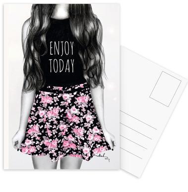 Enjoy Today -Postkartenset