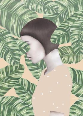 Flora -Leinwandbild