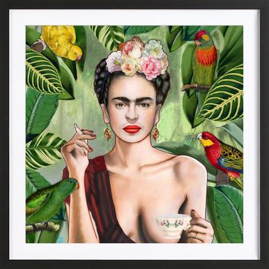 Frida Con Amigos ingelijste print