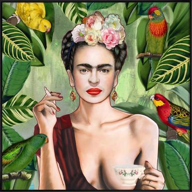 Frida Con Amigos - Poster in kunststof lijst