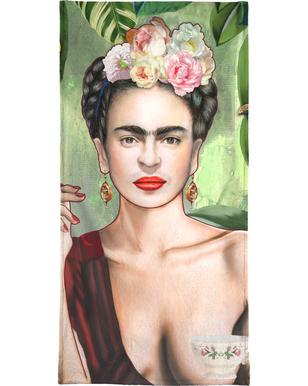 Frida Con Amigos Beach Towel