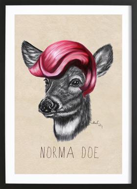 Norma Doe -Bild mit Holzrahmen
