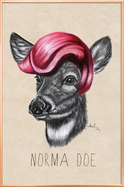 Norma Doe -Poster im Alurahmen