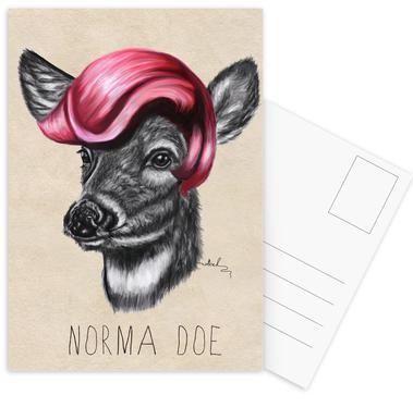 Norma Doe -Postkartenset