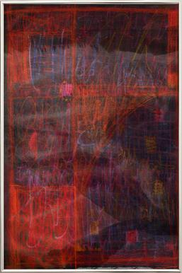 Imprint 02 -Poster im Alurahmen