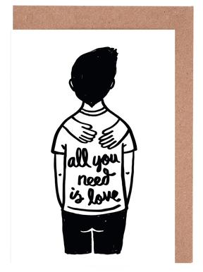All You Need Is Love (B&W) Greeting Card Set