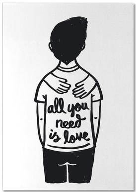 All You Need Is Love (B&W) Notepad